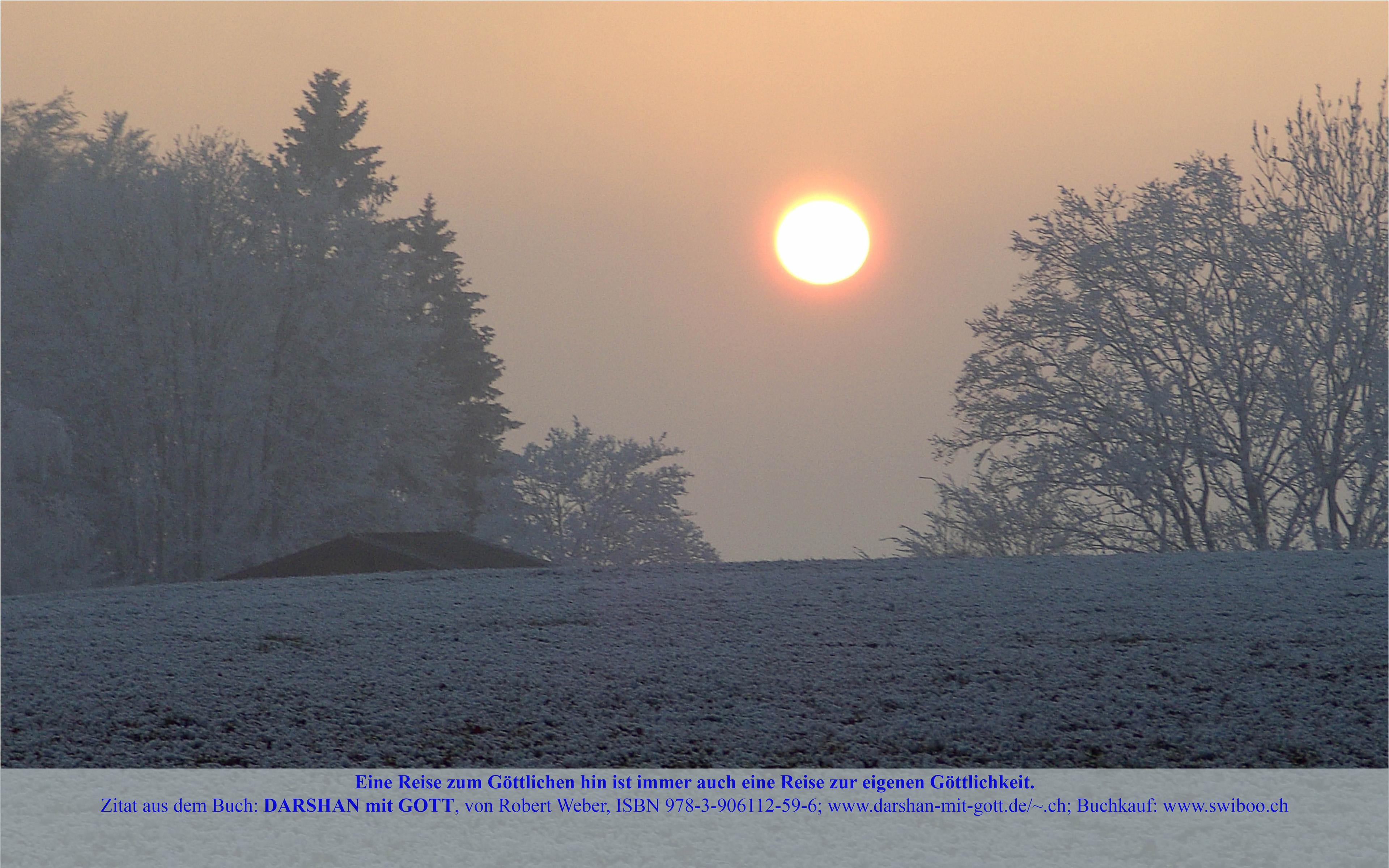 DARSHAN mit GOTT: Eine Reise zum Göttlichen ..., Winterlandschaft mit Sonne und Nebel